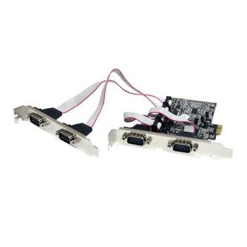 Kонтролер Estillo PCI-ex 4S, от PCI Express x1 към 4x RS232+, до 460.8 Kbps трансфер на данни image