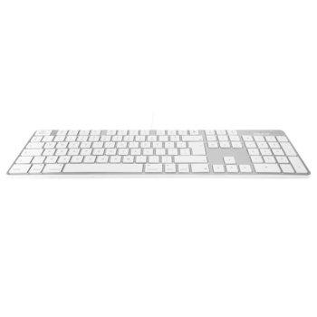 Клавиатура Macally Slim USB Keyboard, за Mac, бяла, нископрофилни клавиши, USB image