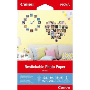 Фотохартия Canon PR-101, 10 x 15 cm, 5 листа image