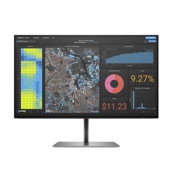 """Монитор HP Z24f G3 (3G828AA), 23.8"""" (60.45 cm) IPS панел, Full HD, 5ms, 1000:1, 300cd/m2, DisplayPort, HDMI, USB Hub image"""