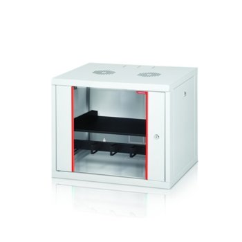 """Комуникационен шкаф Formrack GLD-9U450/ALFA-9U450, 19"""", 9U, 555 x 450 mm, бял image"""