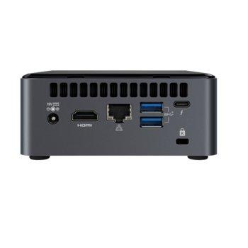 Мини компютър Intel NUC 10 Performance kit (BXNUC10I7FNH2), шестядрен Coffee Lake Intel Core i7-10710U 1.1/4.7 GHz, 2x USB Type-C) image