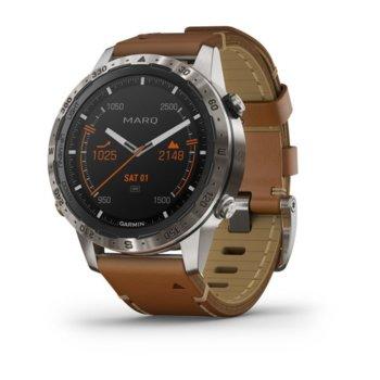 Смарт часовник Garmin MARQ™ Adventurer (010-02006-27), 30.4 мм диаметър на дисплея, 32GB памет, водоустойчив(10 ATM), черен с кожена каишка  image