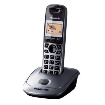 """Безжичен телефон Panasonic KX-TG 2511, 1.4""""(3.56 cm) монохромен дисплей, сребърен image"""