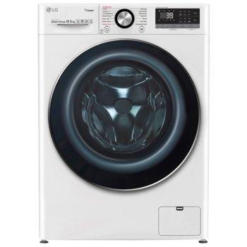 Перална машина LG F4WV709P1, клас A+++, 9 кг. капацитет, 1400 оборота, 14 програми, 7 бр. допълнителни опции, свободностояща, 60 cm ширина, бяла image