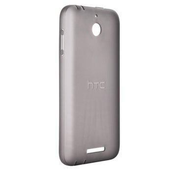 Калъф за HTC Desire 510, Страничен протектор с гръб, термополиуренатов, HTC, сив image