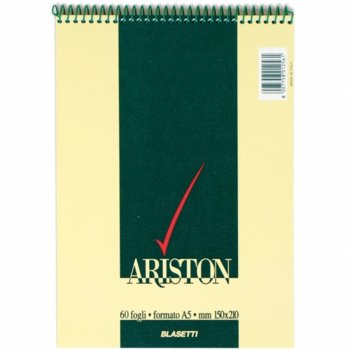 Бележник Blasetti Ariston 10000923, формат A5, oфсетова хартия, 60 листа, спирала image