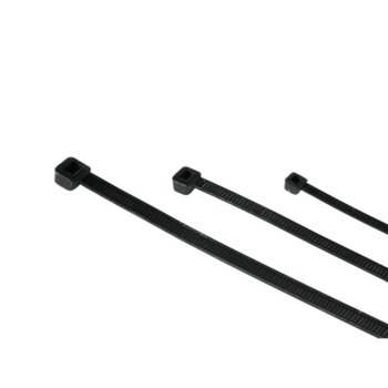 Кабелни връзки /свински опашки/ Hama, 150 бр., 3 различни размера, черни image