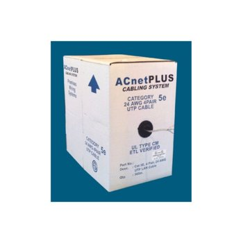 Кабел ACnetPLUS UTP Solid 24AWG Class D, UTP, Cat 5e, ролка 305m, бял image