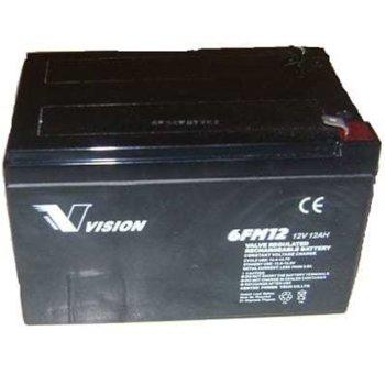 Акумулаторна батерия Vision 6FM12, 12V, 12Ah, VRLA image