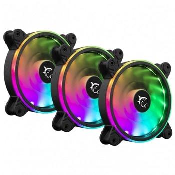Вентилатори 120mm, SBOX NEBULA, 1100 rpm, RGB подсветка, с включен RGB хъб и дистанционно, 3 броя image