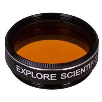 Филтър за телескоп Explore Scientific N15, тъмножълт филтър, 1.25mm диаметър на цилиндъра, анти-рефлективен image