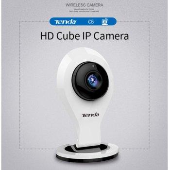 Уеб камера TENDA C5, микрофон, 720p HD 30fps, Wi-Fi връзка, бяла image