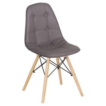 Трапезен стол Carmen 9962, сив image