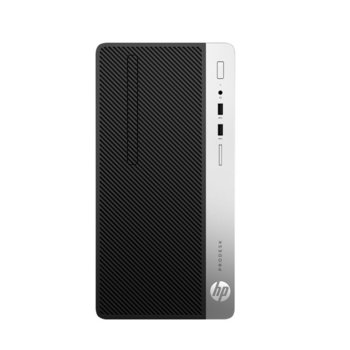 Настолен компютър HP ProDesk 400 G6 (7EL65EA), четириядрен Coffee Lake Intel Core i3-9100 3.6/4.2 GHz, 8GB DDR4, 256GB SSD, 4x USB 3.1, клавиатура и мишка, Windows 10 Pro image