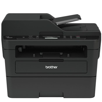 Мултифункционално лазерно устройство Brother DCP-L2552DN, монохромен принтер/копир/скенер, 2400x600 dpi, 34 стр./мин, LAN 100Base-TX, USB, ADF, двустранен печат, A4 image