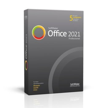 Софтуер SoftMaker Office Proffesional 2021, 1/5 потребители, български, за Windows image