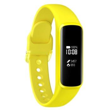 Смарт гривна Samsung SM-R375N Galaxy Fit Е, акселерометър, сензор за сърдечен ритъм, Bluetooth v5.0, за Android, жълта image