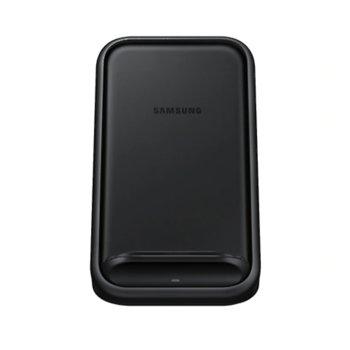 Безжично зарядно устройство Samsung Wireless Charger Stand EP-N5200TBEGWW, 9/5V, 15W, USB Type C, черно, със стойка image