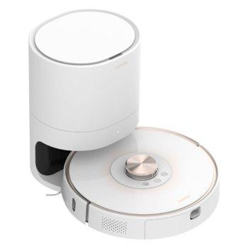 """Прахосмукачка Lenovo Robot Vacuum Cleaner T1 Pro, робот, безжична, мокро почистване, 2700 Pa всмукателна мощност, Wi-Fi, функция """"График"""", автоматично зареждане, система за самопочистване, лазерна навигация, SLAM картографиране, бяла image"""