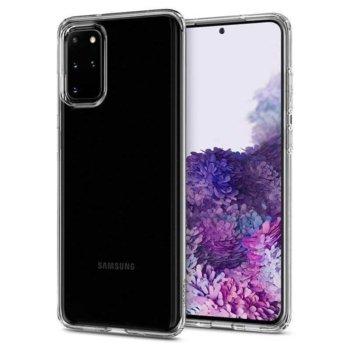 Калъф за Samsung Galaxy S20+, силиконов гръб, Spigen Crystal Flex ACS00786, удароустойчив, прозрачен image