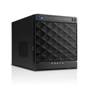 Кутия In-Win IW-MS04.265P.SATA, 2x USB3.0, Mini Tower черна, 265W захранване image