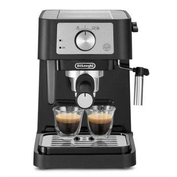 Ръчна еспресо кафемашина DeLonghi Stilosa EC260, 1100W, 15 bar, 1 L капацитет на резервоар, дюза за капучино, черен image