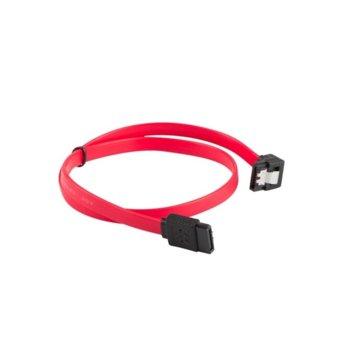 Кабел Lanberg CA-SASA-13CU-0070-R, SATA3 към SATA3, 0.7m, Angled, червен image
