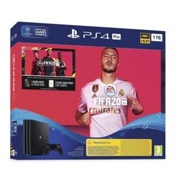 Конзола Sony PlayStation 4 Pro 1TB в комплект с FIFA 20, черна image