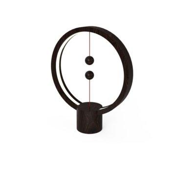 LED настолна лампа Allocacoc HENG Balance Lamp DH0039DW, 5W, 5V, 400 lm, USB, 1.5 м. кабел, дърво, черна image