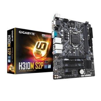 Дънна платка Gigabyte H310M S2P (rev. 1.0), H310, LGA1151, DDR4, PCI-Е 3.0(HDMI), 4x SATA 6Gb/s, 1x M.2 Socket, 2x USB 3.1 Gen1, mATX image