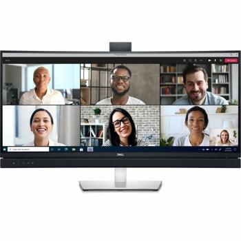 """Монитор Dell C3422WE, 34"""" (86.36 cm) IPS панел, WQHD, 5ms, 1 000:1, 300cd/m2, DisplayPort, HDMI, USB, LAN, 5MP IR camera image"""
