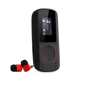 MP3 плейър Energy Sistem 426492, 8GB, 2.0cm дисплей, Bluetooth, черен/червен image