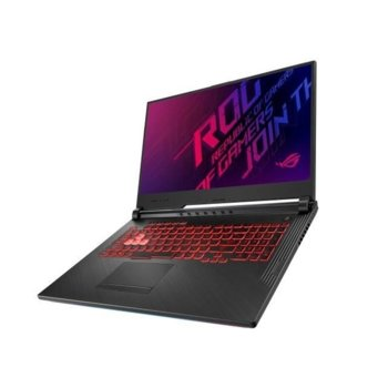 "Лаптоп Asus ROG Strix G G731GT-H7114 (90NR0223-M03570), шестядрен Coffee Lake Intel Core i7-9750H 2.6/4.5 GHz, 17.3"" (43.94 cm) Full HD IPS 120Hz Anti-glare Display & GTX 1650 4GB, (DP), 8GB DDR4. 512GB SSD, 1x USB-C, No OS image"