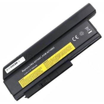 Батерия (заместител) за лаптоп Lenovo ThinkPad, съвместима с X220/X220i/X220s/X230, 11.1V, 7800mAh  image