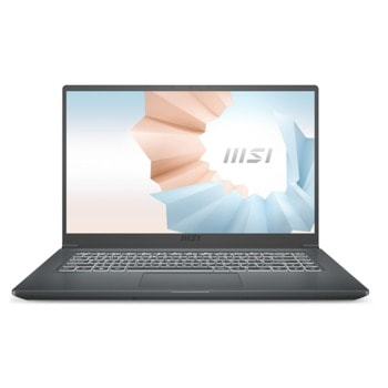 "Лаптоп MSI Modern 15 A10M (9S7-155136-634), двуядрен Comet Lake Intel Core i3-10110U 2.1/4.1 GHz, 15.6"" (39.62 cm) Full HD IPS Anti-Glare Display, (HDMI), 8GB DDR4, 256GB SSD, 1x Type-C, No OS image"