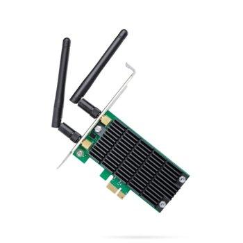 Мрежови адаптер TP-Link Archer T4E AC1200, 1200Mbps, Wireless-AC, PCI Express image