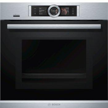 Фурна за вграждане Bosch HNG6764S6 SER8, 67 л. обем, самопочистване, 4D hot air, Vario grill, инокс image