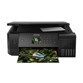 Мултифункционално мастиленоструйно устройство Epson EcoTank L7160, цветен принтер/копир/скенер, 5760 x 1440 dpi, 32 стр./мин., Wi-Fi, LAN, USB, A4, двустранен печат image