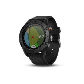 """Смарт часовник Garmin Approach S60, предназначен за голф, 1.2"""" (30.4 mm) сензорен дисплей, 1GB Flash памет, Bluetooth, до 10 часа време за работа, черен image"""