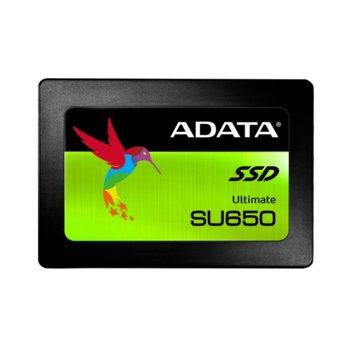 """Памет SSD 960GB A-Data SU650 3D NAND, SATA 6Gb/s, 2.5"""" (6.35 cm), скорост на четене 520MB/s, скорост на запис 450MB/s image"""