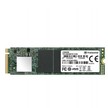 Памет SSD 128GB Transcend TS128GMTE110S, NVMe, M.2 2280, скорост на четене 1 500 MB/s, скорост на запис 400 MB/s image