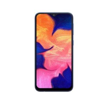 "Смартфон Samsung Galaxy A10 (2019) SM-A105F (син), поддържа 2 sim карти, 6.2"" (15.75 cm) IPS дисплей, осемядрен Exynos 7884 1.6 GHz, 2GB RAM, 32GB (+microSD слот), 13.0 & 5.0 MPix камера, Android, 168 g image"