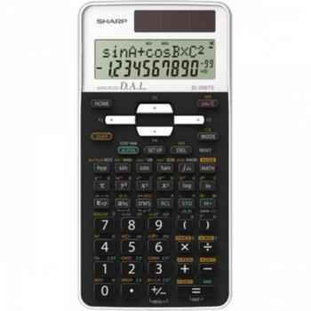 Калкулатор SHARP EL-506TS-WH, научен , двуредов дисплей 10 разряден, съдържа над 470 научни функции, черен image