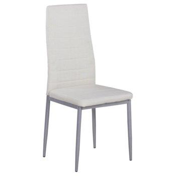 Трапезен стол Carmen 515, дамаска, бял image
