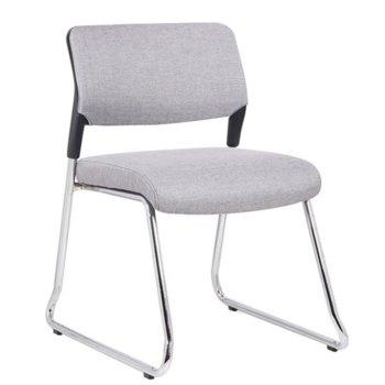 Посетителски стол RFG Evo 4S M (ON4010100286), дамаска, 120 кг. максимално натоварване, сив image