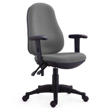 Работен стол RFG Norton (ON4010120294), дамаска, полипропиленова база, регулируеми подлакътници, 120 кг. максимално натоварване, син image