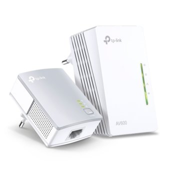 Powerline адаптери TP-Link AV600 Kit, 300Mbps, до 300м обхват, 2x 10/100 Ethernet порт, 2 устройства image