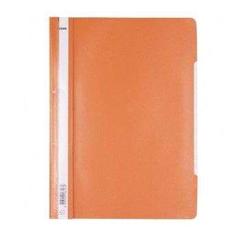 PVC папка Lux, перфорация, оранжева, A4 image