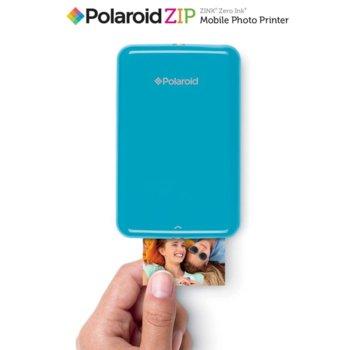 """Мобилен принтер Polaroid ZIP, мастиленоструен, Standard micro USB, (500 mAh) батерия несменяема ,2x3"""" full-color prints, син image"""